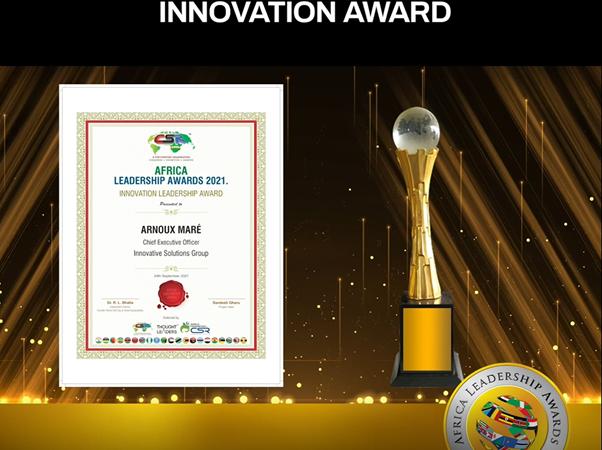 Innovative Solutions Group bags prestigious Innovation Award